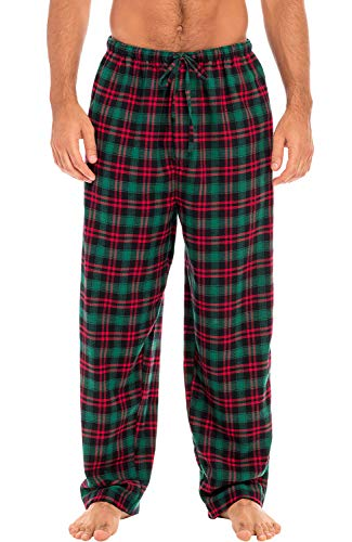 Alexander Del Rossa Men's Lightweight Flannel Pajama Pants, Long Cotton Pj Bottoms, Medium Aqua...