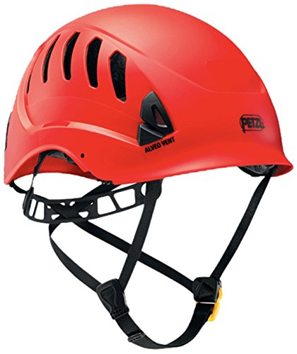 PETZL - ALVEO Vent, Ventilated Helmet for Rescue Work, Red