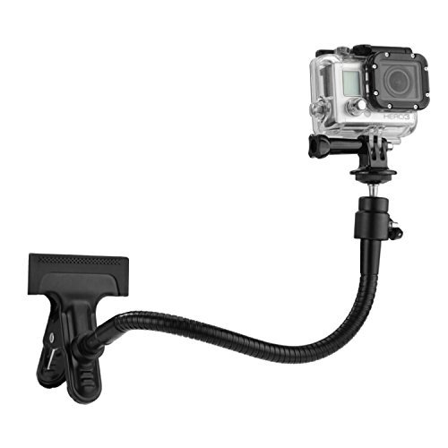 CamKix Clamp Mount Compatible with Gopro Hero 8 Black, Hero 7, 6, 5 Black, Session, Hero 4, Session,...