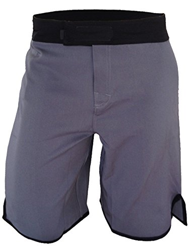 Epic MMA Gear Blank WOD MMA Shorts - No Logo (Men 32, Grey/Black)