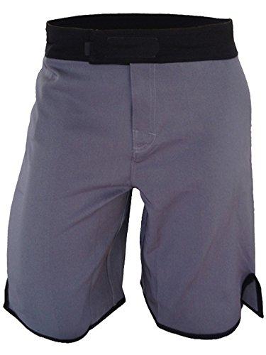 Epic MMA Gear Blank WOD MMA Shorts - No Logo (Men 32, Grey/Black)