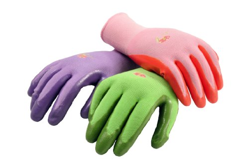 G & F Products 6 PAIRS Women Gardening Gloves with Micro Foam Coating - Garden Gloves Texture Grip -...