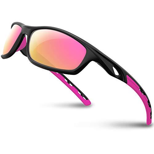 RIVBOS Polarized Sports Sunglasses for Women Men Driving Shades Cycling Baseball Running Rb833...