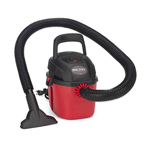 Shop-Vac 2021000 Micro Wet/Dry Vac Portable Compact Micro Vacuum with Collapsible Handle Wall...