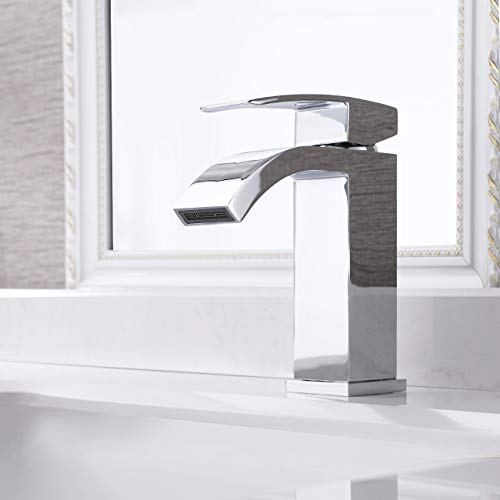 KES Bathroom Waterfall Faucet Single Handle One Hole Vanity Sink Faucet cUPC NSF Certified No Free...