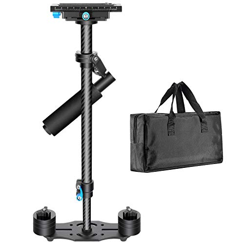 Neewer Carbon Fiber 24 inches/60 Centimeters Handheld Stabilizer with 1/4 3/8 inch Screw Quick Shoe...