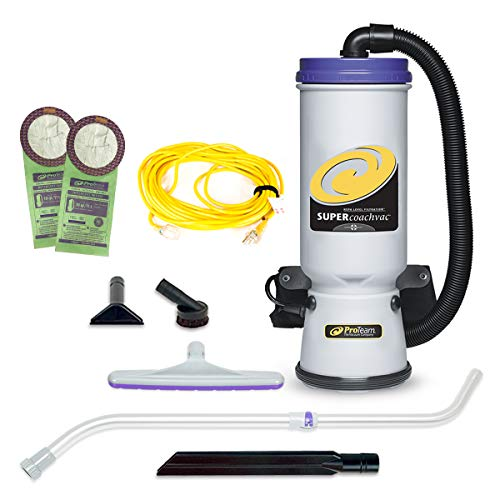 ProTeam Backpack Vacuums, Super CoachVac Commercial Backpack Vacuum Cleaner with HEPA Media...