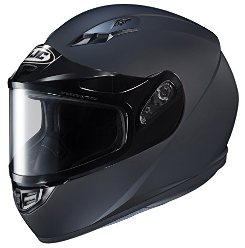 HJC Helmets CS-R3SN Unisex-Adult Full Face Snow Helmet with Framed Dual Lens Shield (Matte Black,...
