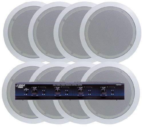 KTHSP85p - 4 Room In-Ceiling Home Speaker System w/Speaker Selector & Volume Control