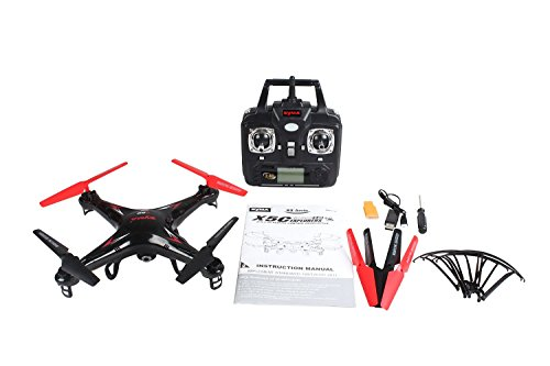 SYMA X5C 2.4 GHZ 4 Channel RC Remote Control UFO Drone Quadcopter with HD Video/Camera [RX Aerio...