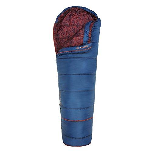 Kelty Big Dipper 30 Degree Kids Sleeping Bag - Blue, Children's Sleeping Bag Ideal for Camping,...