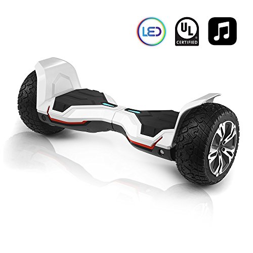 cho All Terrain Black Rugged 8.5 Inch Wheels Hoverboard Off-Road Smart Self Balancing Electric...