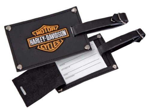 Harley Davidson Luggage Tags, Black