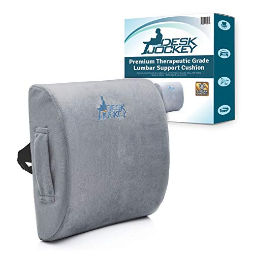 Lumbar Pillow Support Cushion - Clinical Grade Memory Foam Orthopedic for Car Driving & Office...