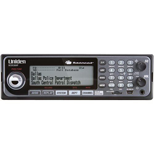 Uniden BCD536HP HomePatrol Series Digital Phase 2 Base/Mobile Scanner with HPDB and Wi-Fi. Simple...
