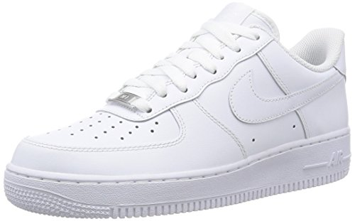Nike Mens Air Force 1 07 QS Basketball Shoes (8.5 D(M) US, White/White)