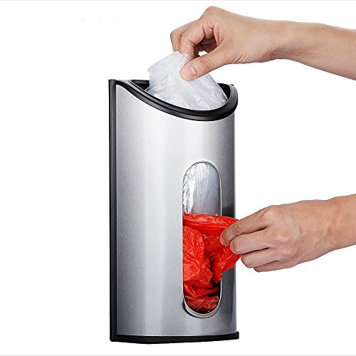 Magdisc Wall Mount Grocery Plastic Bag Holder, Bag Dispenser with Extra-Wide & Easy-Access Openings,...