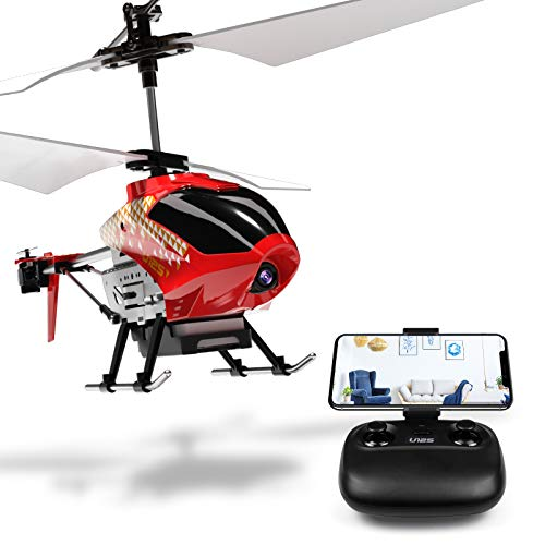 Cheerwing U12S Mini RC Helicopter with Camera Remote Control Helicopter for Kids and Adults (Red)