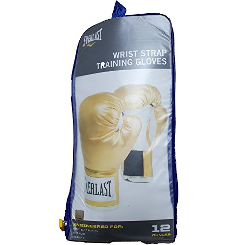 Everlast Boxing Wrist Wrap Level 1 Training Gloves, 12oz, Gold