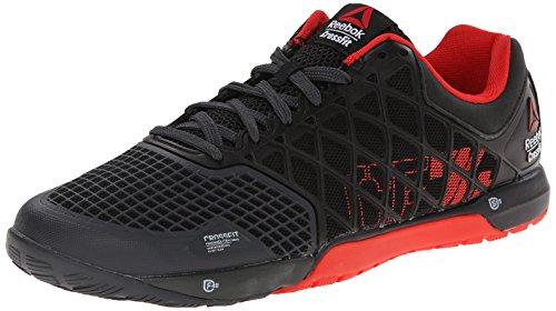 Reebok Men's Crossfit Nano 4.0 Training Shoe, Black/China Red/Gravel, 8 M US