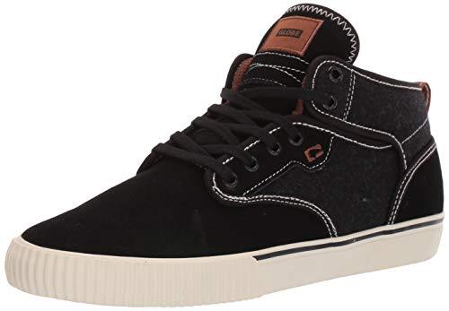 Globe Men's Motley Mid Skateboard Lifestyle Shoe,Black/Tobacco Gum,5 M US