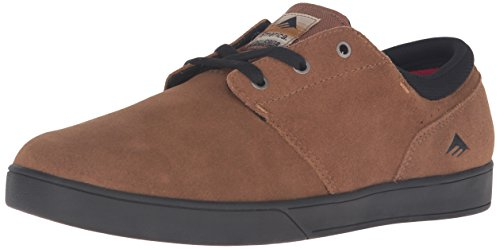 Emerica Men's The Figueroa Skateboarding Shoe, Brown/Black, 9.5 M US