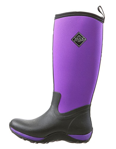 Muck Arctic Adventure Tall Rubber Women's Winter Boots, 9 M US, Black/Purple