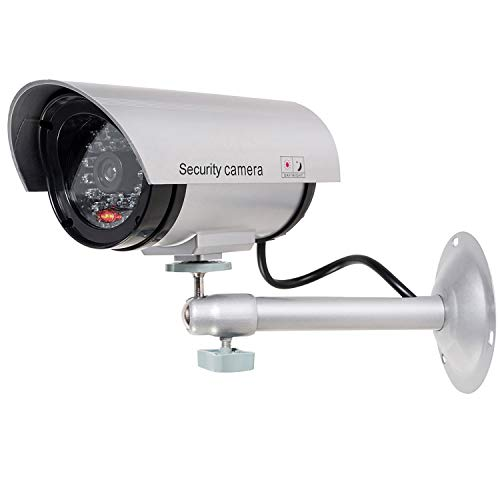 WALI Bullet Dummy Fake Surveillance Security CCTV Dome Camera Indoor Outdoor with one LED Light +...
