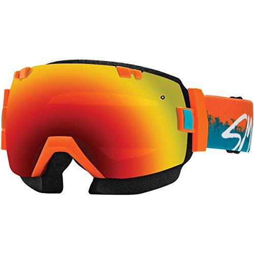 Smith Optics SNMB IOX Winter Sport Snowmobile Goggles Eyewear - Orange Kook/Red Sol-X...