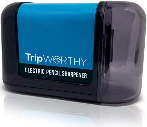Electric Pencil Sharpener - Battery Operated (No Cord) - Ideal For No. 2 and Colored Pencils...