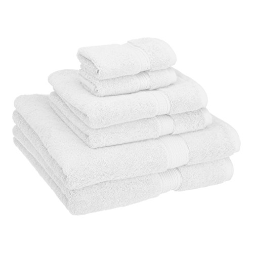 Superior 900 GSM Luxury Bathroom 6-Piece Towel Set, Made Long-Staple Combed Cotton, 2 Hotel & Spa...