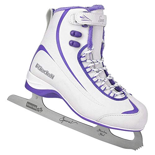 Riedell 625 Soar / Mens Beginner/Soft Figure Ice Skates / Color: Gray and Lime / Size: 12