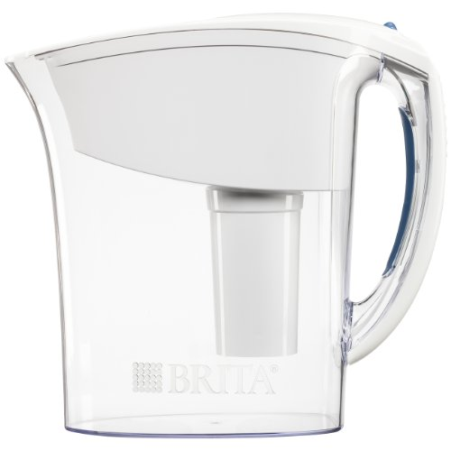 Brita Small 6 Cup Water Filter Pitcher with 1 Standard Filter, BPA Free  Space Saver, White