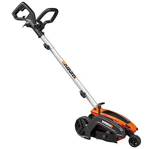 WORX WG896 12 Amp 7.5' Electric Lawn Edger & Trencher, Orange and Black