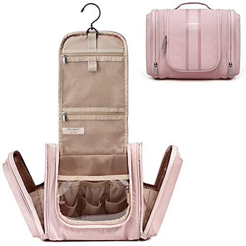 Hanging Toiletry Bag, BAGSMART Travel Toiletry Organizer with hanging hook, Water-resistant Cosmetic...