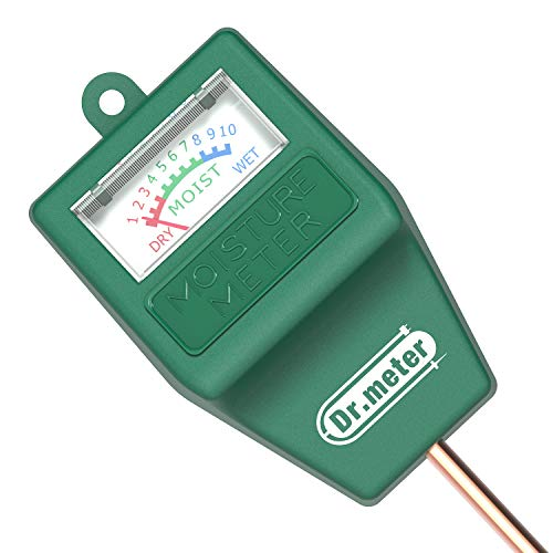 Dr.Meter S10 Soil Moisture Sensor Meter, Hygrometer Moisture Sensor for Garden, Farm, Lawn Plants...