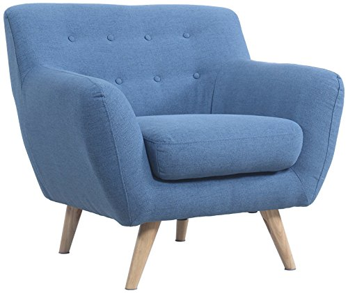 Modern Mid Century Blue Chair