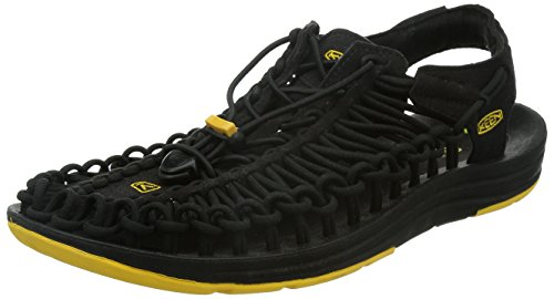 KEEN Men's Uneek Sandal, Black, 12 M US