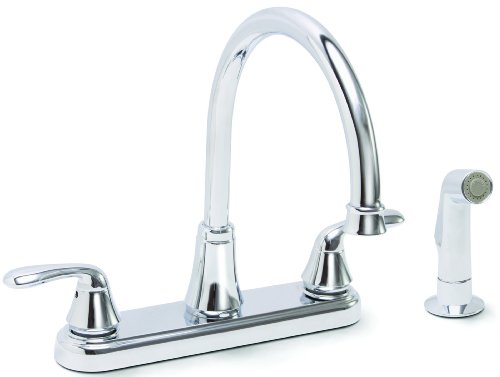 Premier 126967 Waterfront Kitchen Faucet With Two Handles And Side Spray, Chrome, Lead Free