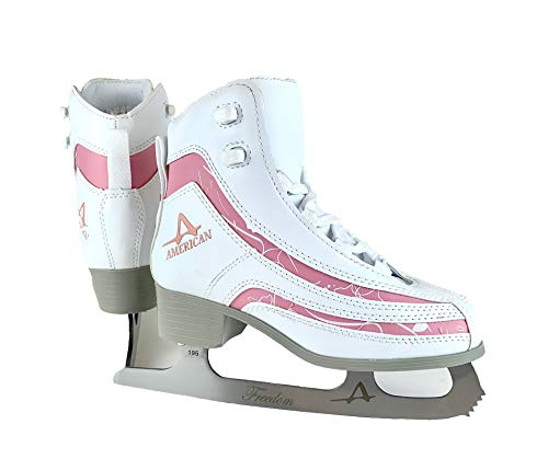 American Athletic Shoe Girl's Soft Boot Ice Skates, White, 1