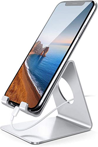 Lamicall Cell Phone Stand, Desk Phone Holder Cradle, Compatible with Phone 12 Mini 11 Pro Xs Max XR...