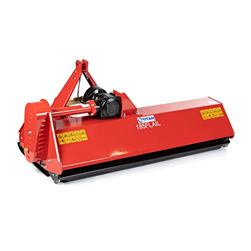 Titan Attachments 6 FT Flail Mower, Cat 1, 3 Point PTO Tractor Attachment, Heavy-Duty Cutting