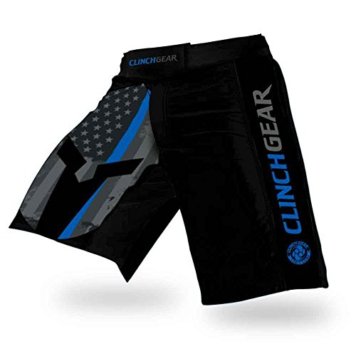 Clinch Gear Performance Cross-Training Shorts - MMA Grappling Fight Shorts, Kickboxing Shorts for...