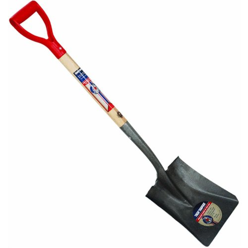 Ames True American Square Point Shovel with 30' Poly D Grip Handle