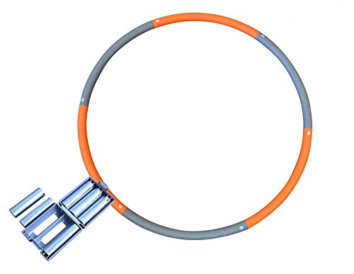 Weighted Hula Hoop - Adjustable Weight From 3.3 LBs to 5.3 LBs. - Perfect For Fitness Workouts and...