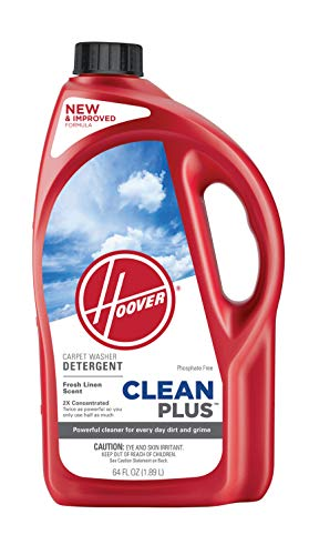 Hoover CleanPlus Concentrated Solution Formula Carpet Cleaner and Deodorizer, 64 oz, AH30330NF, Red,...