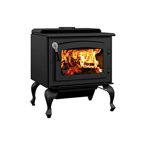 Drolet Escape 1800 Wood Stove on Legs Large 2020 EPA Certified Wood Stove - 75,000 BTU – 2,100...