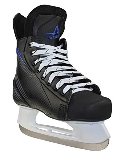 American Athletic Shoe Boy's Ice Force Hockey Skates, Black, 12 Y