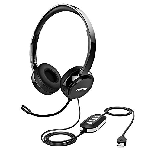 Mpow 071 USB Headset/ 3.5mm Computer Headset with Microphone Noise Cancelling, Lightweight PC...