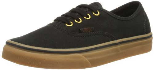 Vans Unisex Authentic Black/Rubber Skate Shoe 9.5 Men US / 11 Women US